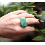 Anel Pedra Natural Quartzo Verde Maçico (n. 24)