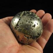 Esfera de Pirita Pedra Natural Rolada - Frete Grátis - 5161