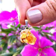 Pingente Âmbar Pedra Natural (3551)