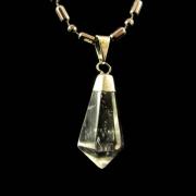 Pingente de Quartzo Cristal Pedra Natural - 6641