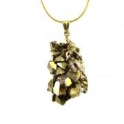 Pingente Drusa de Quartzo Aura Pedra Natural - 5847