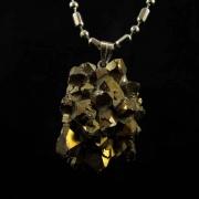 Pingente Drusa de Quartzo Aura Pedra Natural - 6599