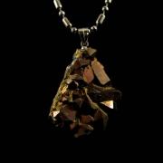 Pingente Drusa de Quartzo Aura Pedra Natural - 6601