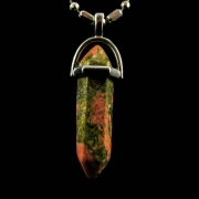 Pingente Unakita Vogel Pedra Natural - 6617
