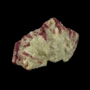 Turmalina Rubelita no Quartzo Pedra Natural Bruta - 6937
