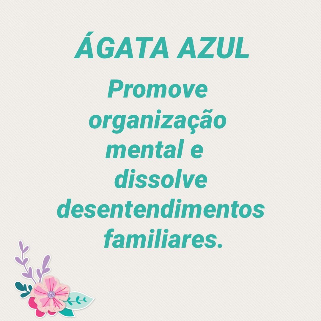 Anel de Ágata Azul Pedra Natural (n°22) * 6861