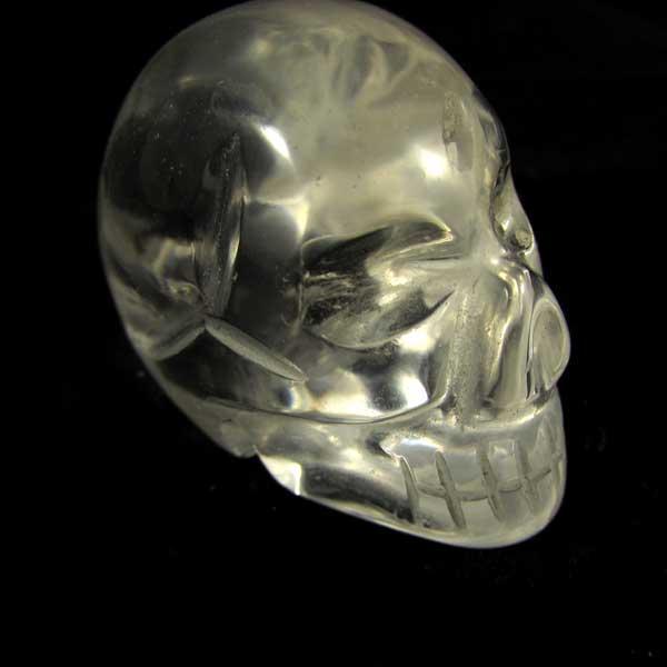 Caveira de Cristal Pedra Natural - 6185 - Linda!