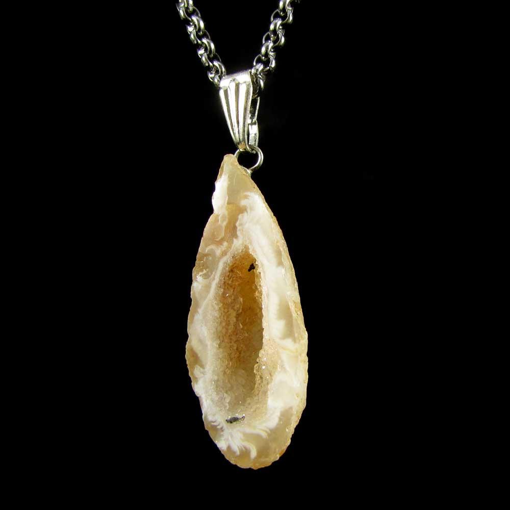 Pingente Concha de Ágata Pedra Natural