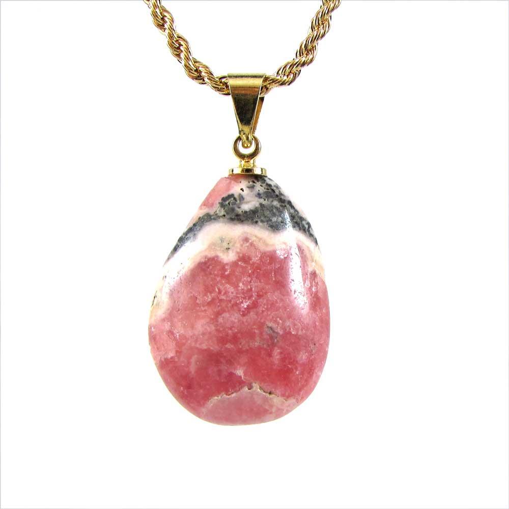 Pingente Rodocrosita pedra Natural