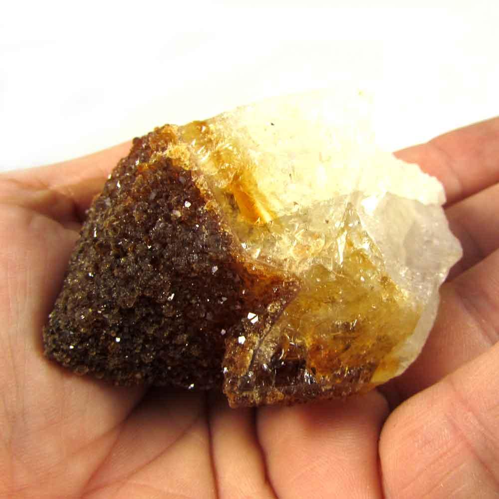 Drusa Citrino Pedra Natural Bruta