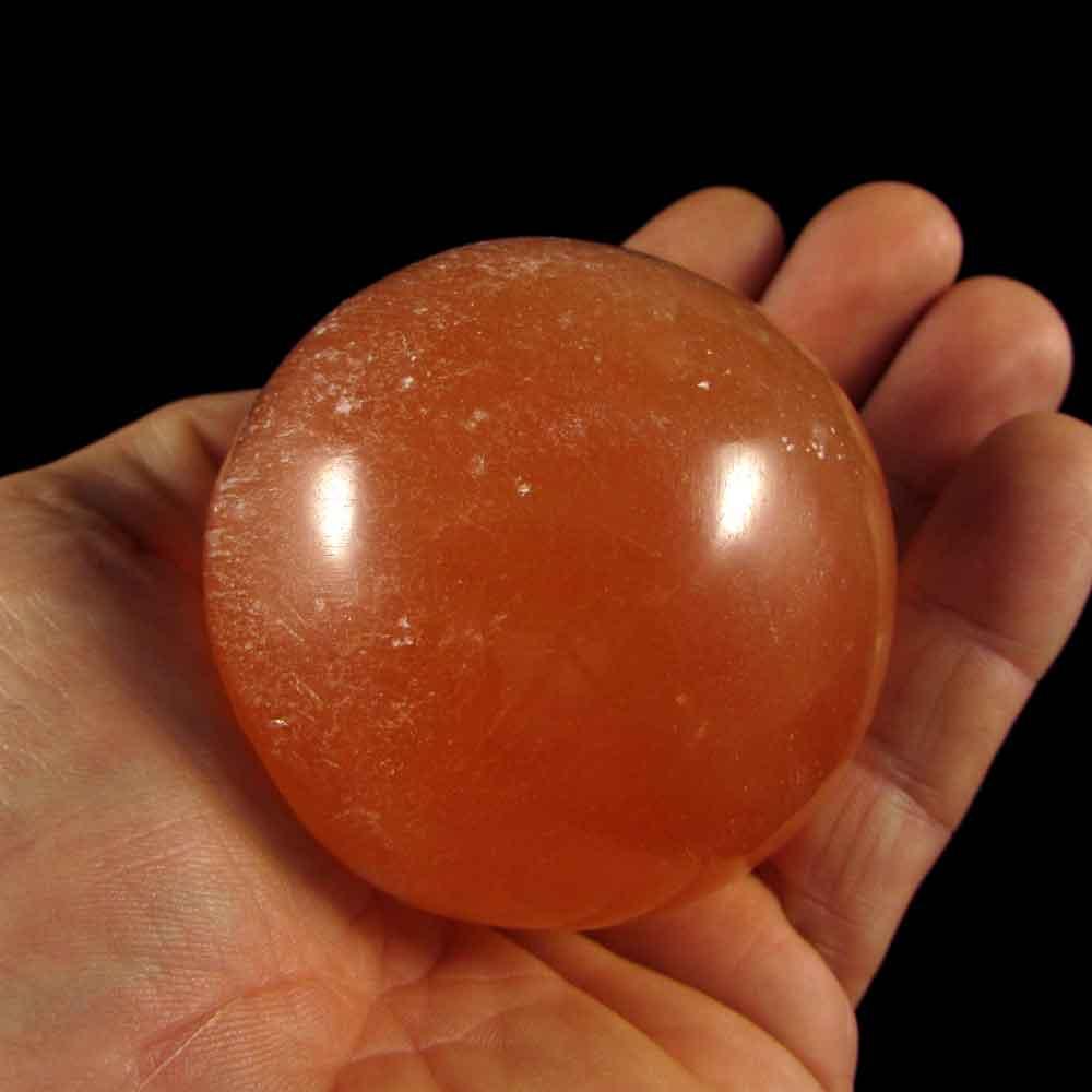 Esfera de Selenita Laranja Pedra Natural