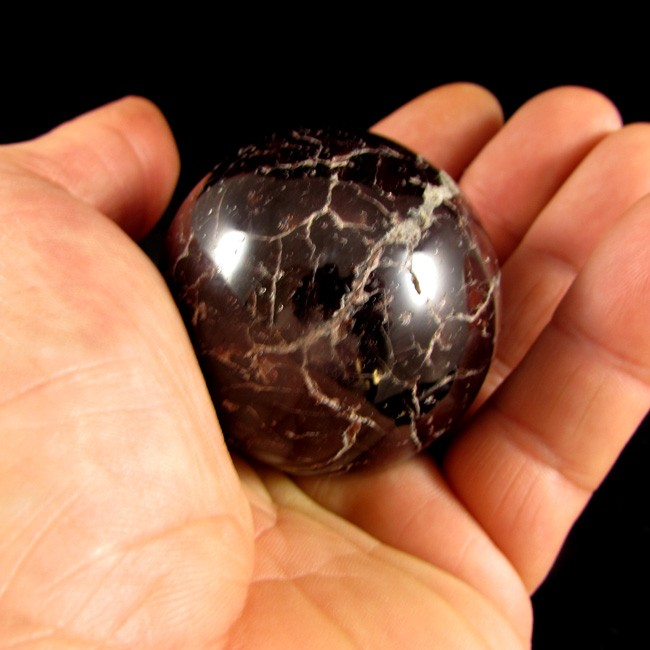 Granada Esfera Pedra Natural -5619