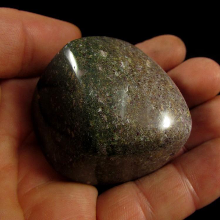 Jaspe Sangue Pedra Natural Rolada - 5393