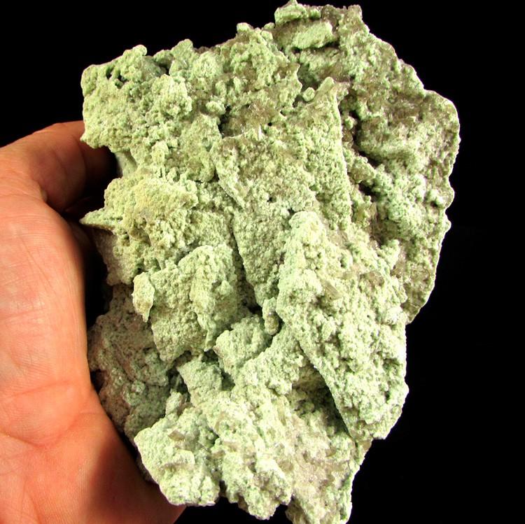 Mica Verde com Cristal Pedra Natural  - Frete Grátis - 4949