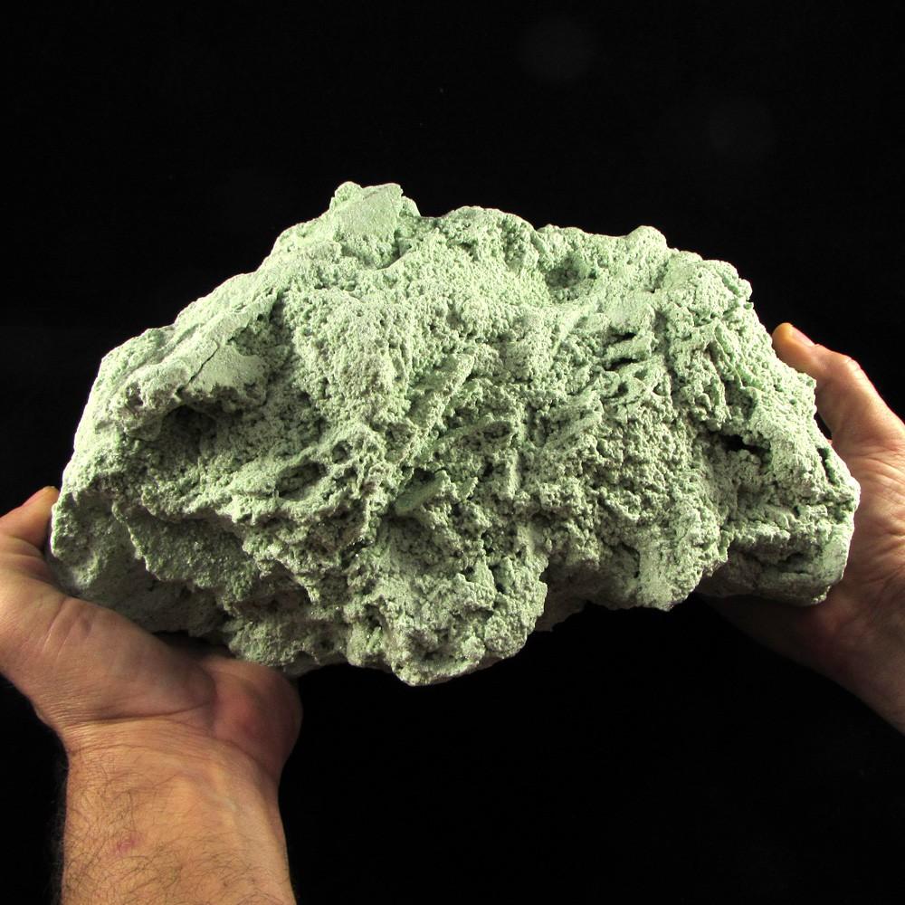 Mica Verde com Cristal Pedra Natural - Frete Grátis - 4951