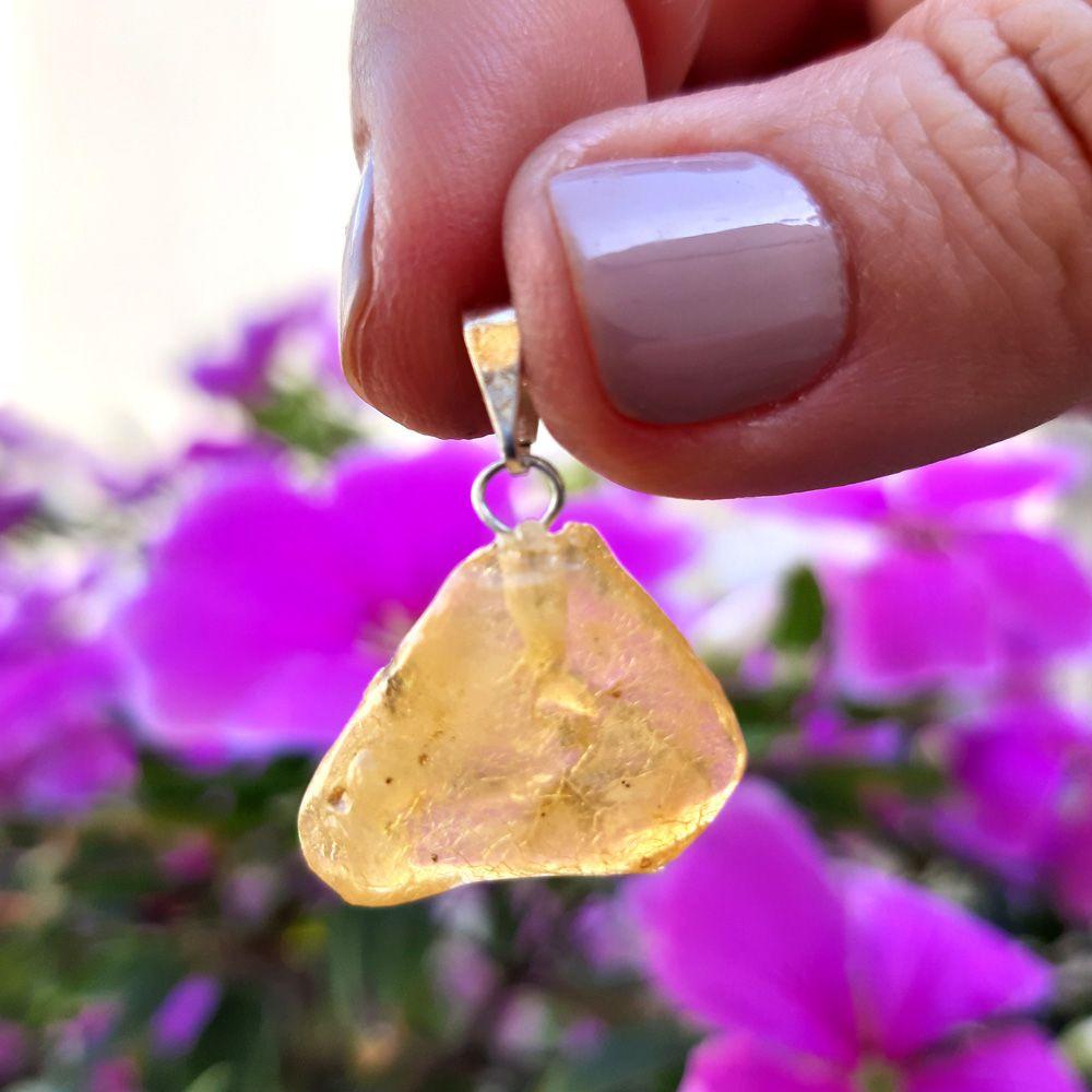 Pingente Âmbar Pedra Natural (3295)