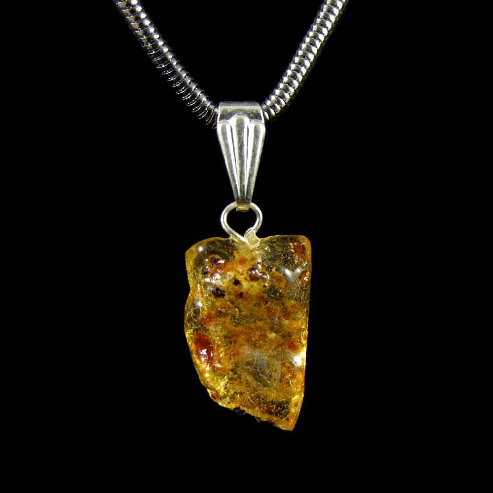 Pingente Âmbar Pedra Natural (3443)