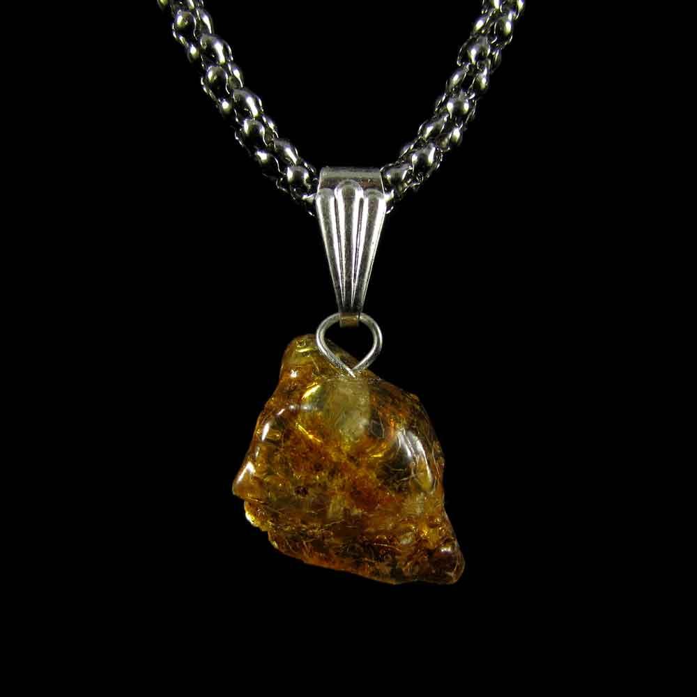 Pingente Âmbar Pedra Natural (3447)
