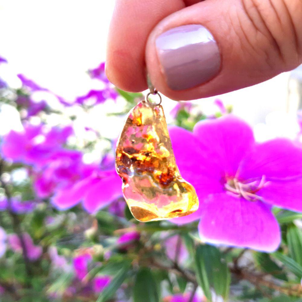 Pingente Âmbar Pedra Natural (3507)