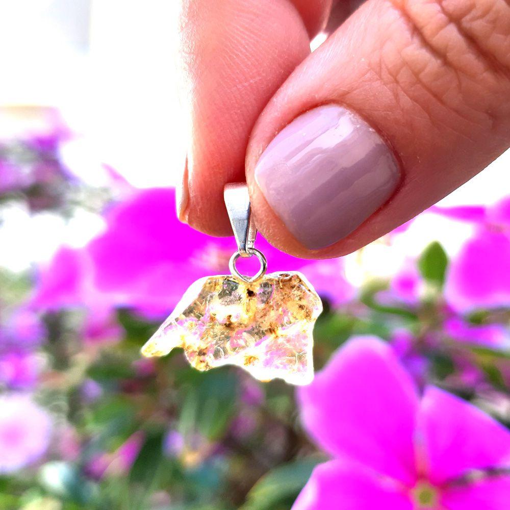 Pingente Âmbar Pedra Natural (3859)
