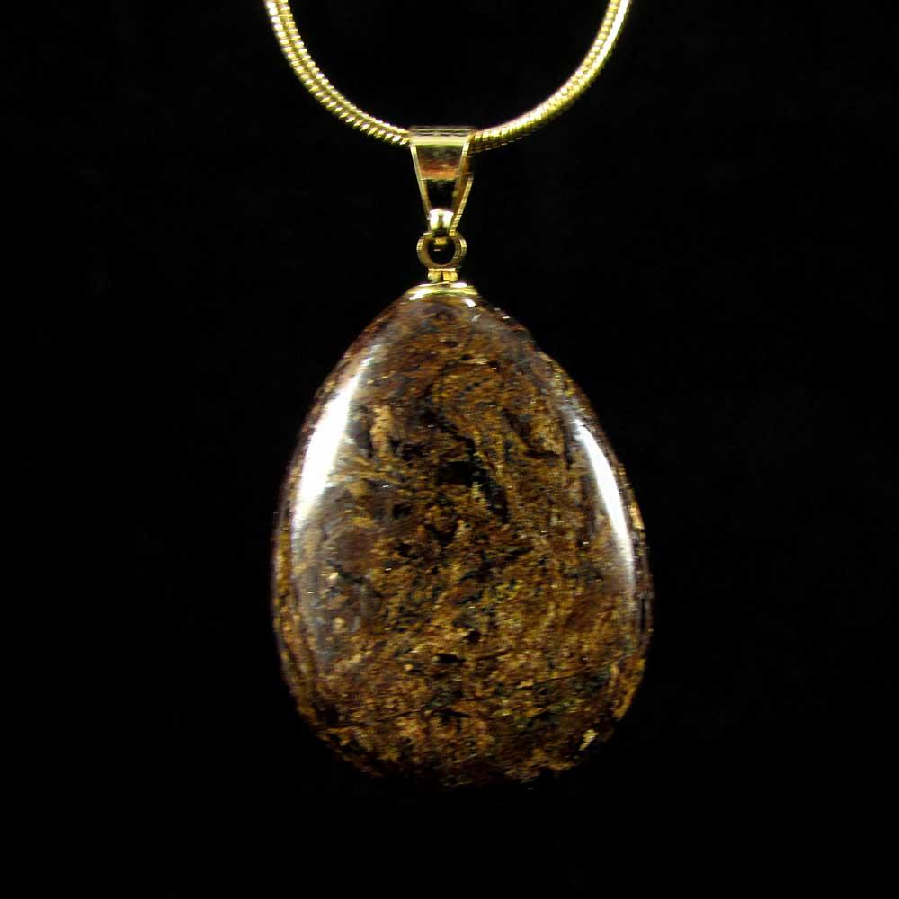 Pingente Bronzita Pedra Natural