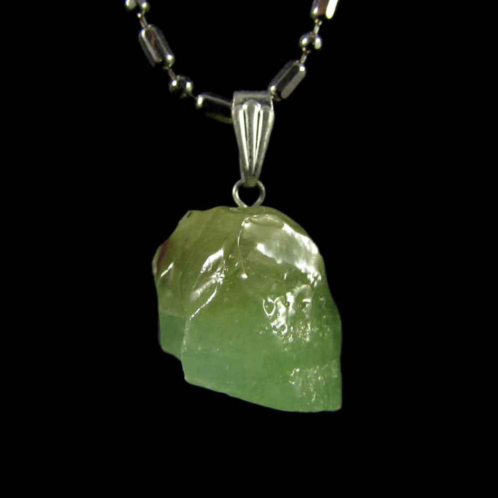 Pingente Calcita Verde Pedra Natural