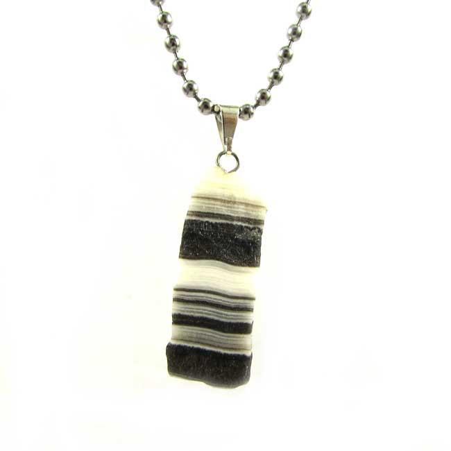 Pingente Calcita Zebra Pedra Natural - 6109