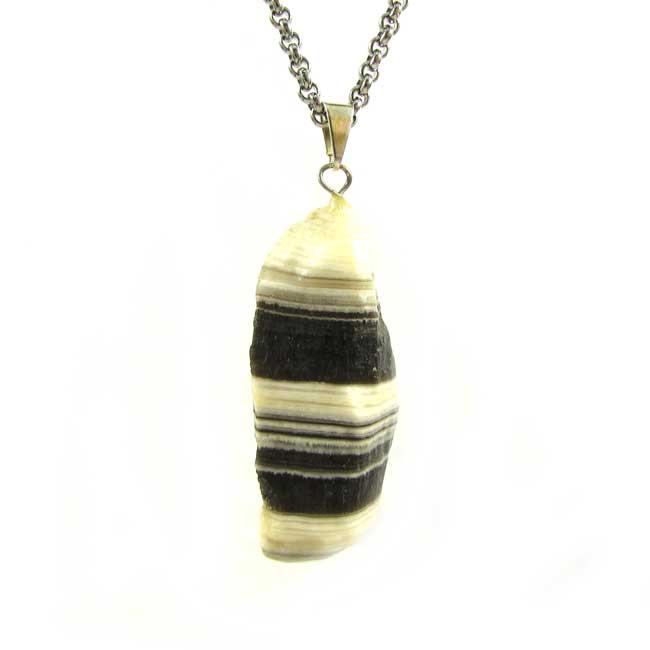 Pingente Calcita Zebra Pedra Natural - 6111