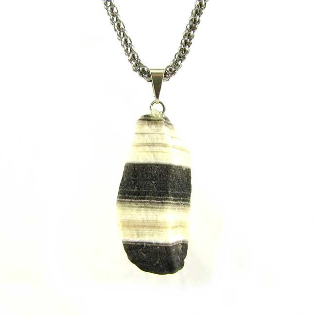 Pingente Calcita Zebra Pedra Natural - 6113
