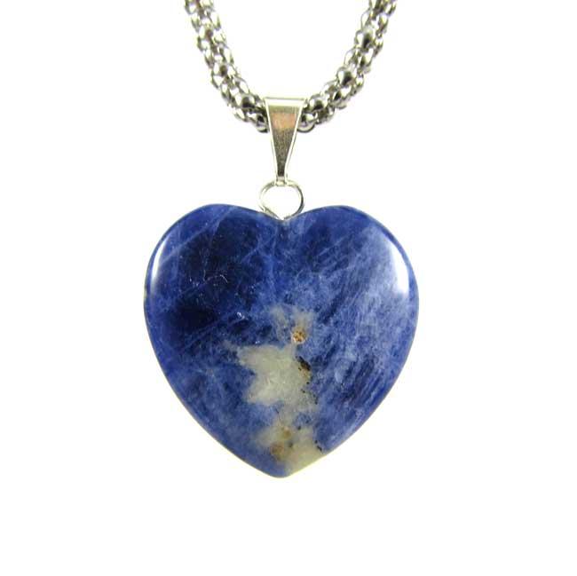 Pingente Coração de Sodalita Pedra Natural Coração - 6073