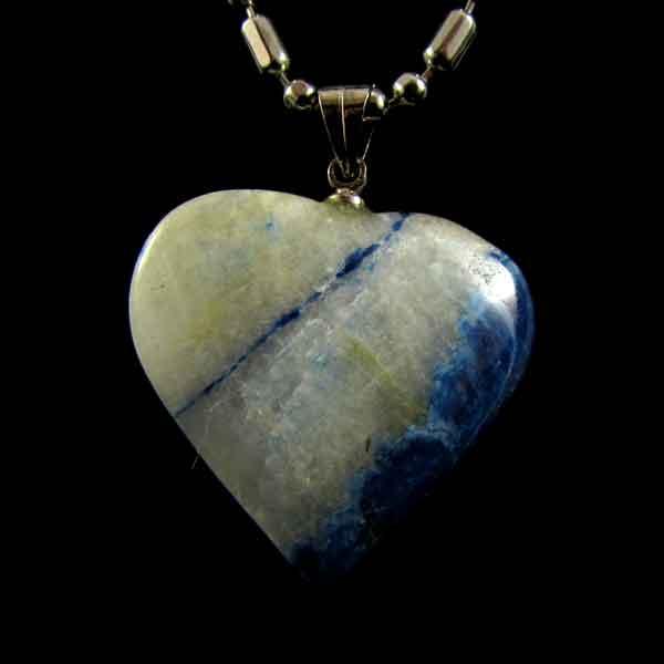 Pingente Coração de Sodalita Pedra Natural Coração - 6671