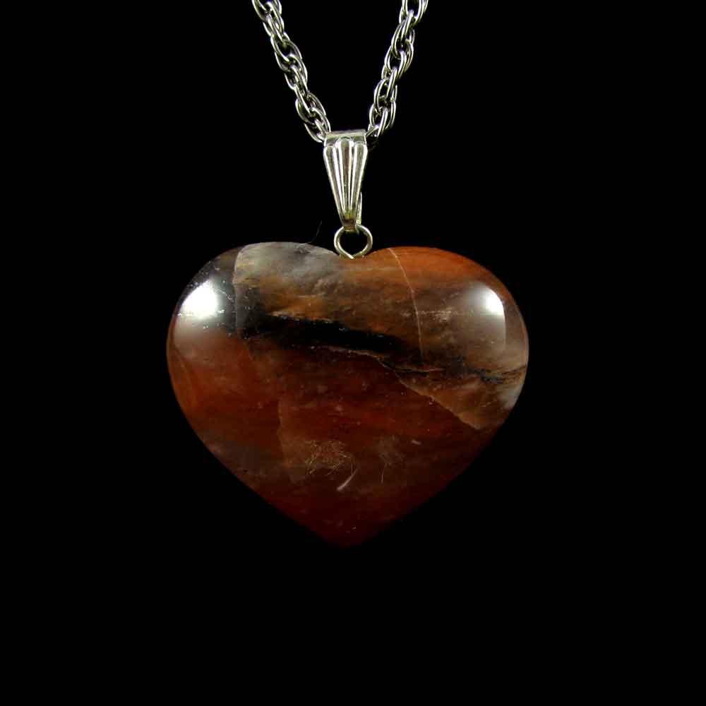 Pingente Coração Pedra Natural  Ágata