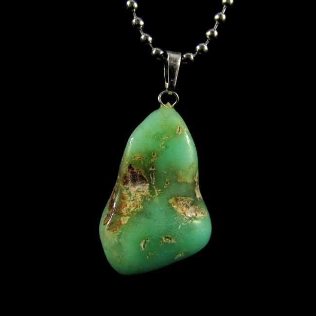 Pingente Crisoprásio Pedra Natural - 6313