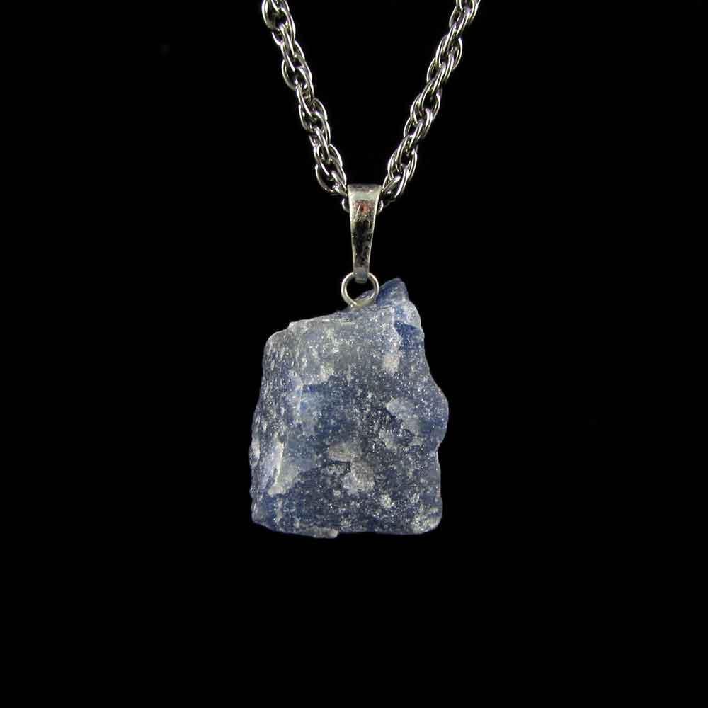 Pingente de Quartzo Azul Pedra Natural