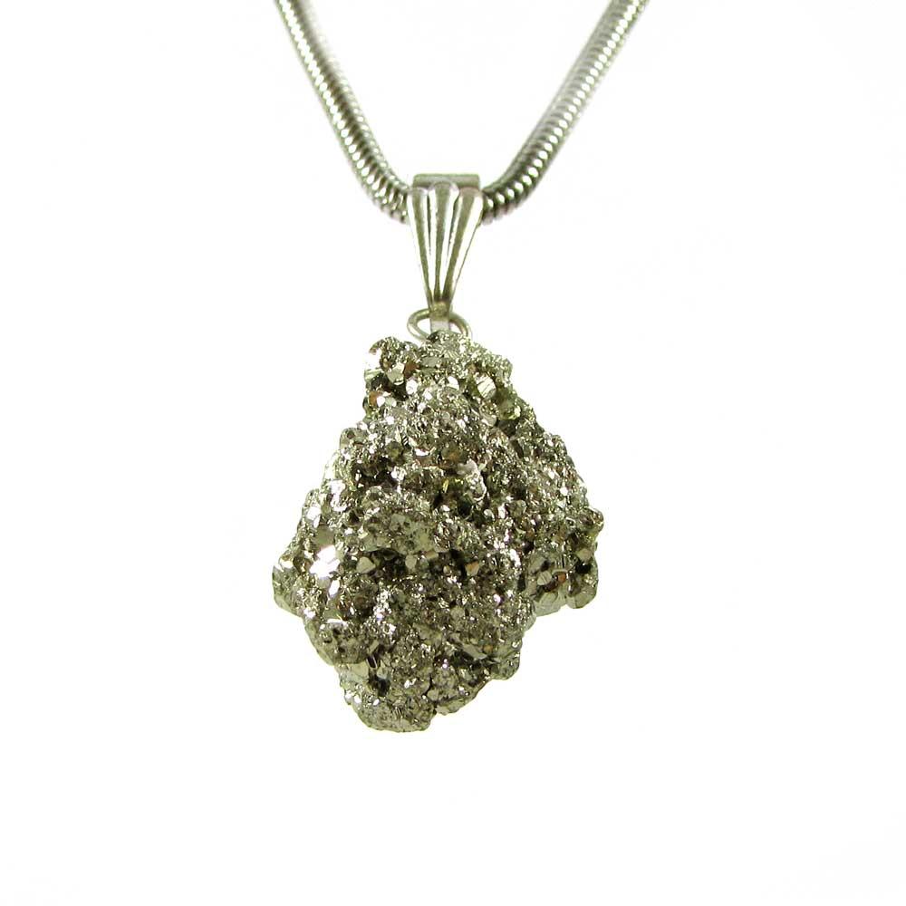 Pingente  Pedra Natural Drusa de Pirita