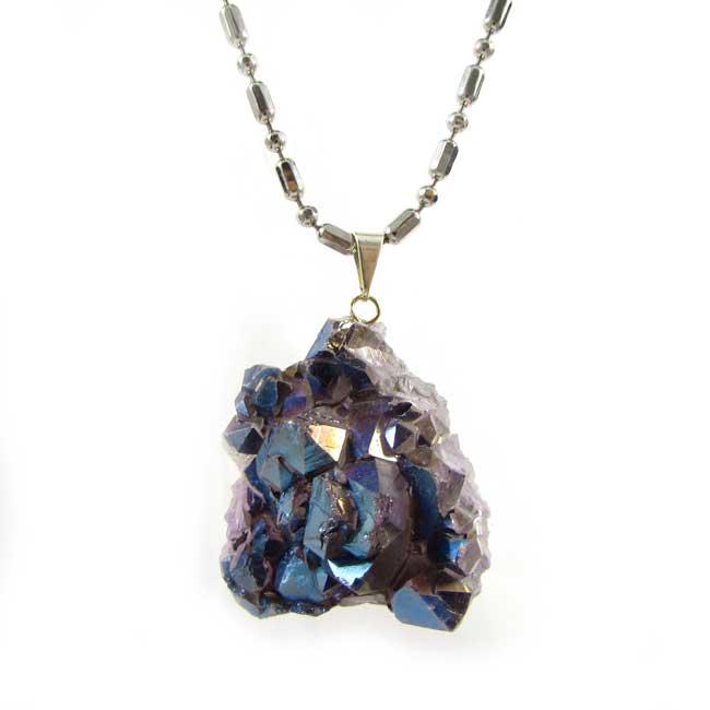 Pingente Drusa de Quartzo Aura Pedra Natural - 5853