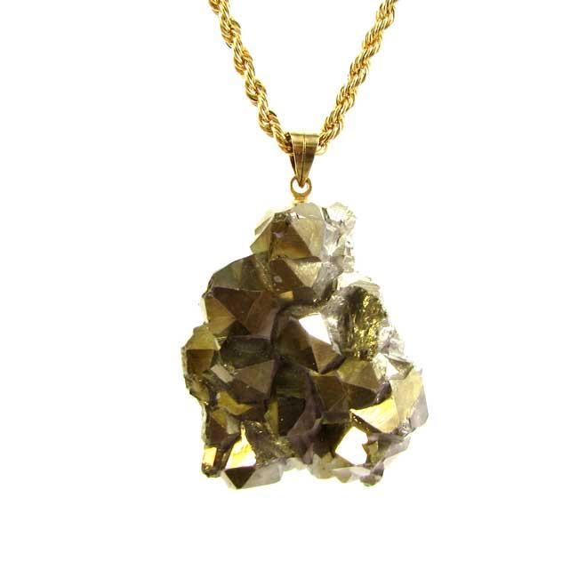 Pingente Drusa de Quartzo Aura Pedra Natural - 5855