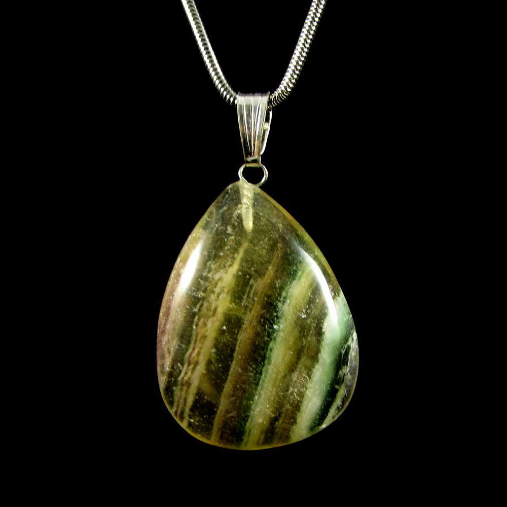 Pingente Fluorita Arco-Íris Pedra Natural (1737)