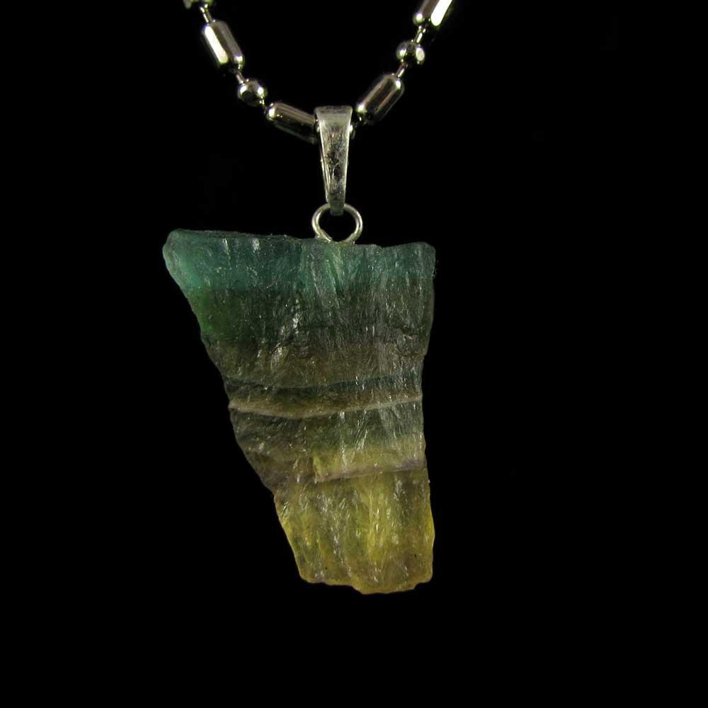 Pingente Fluorita Arco-Íris Pedra Natural (2523)