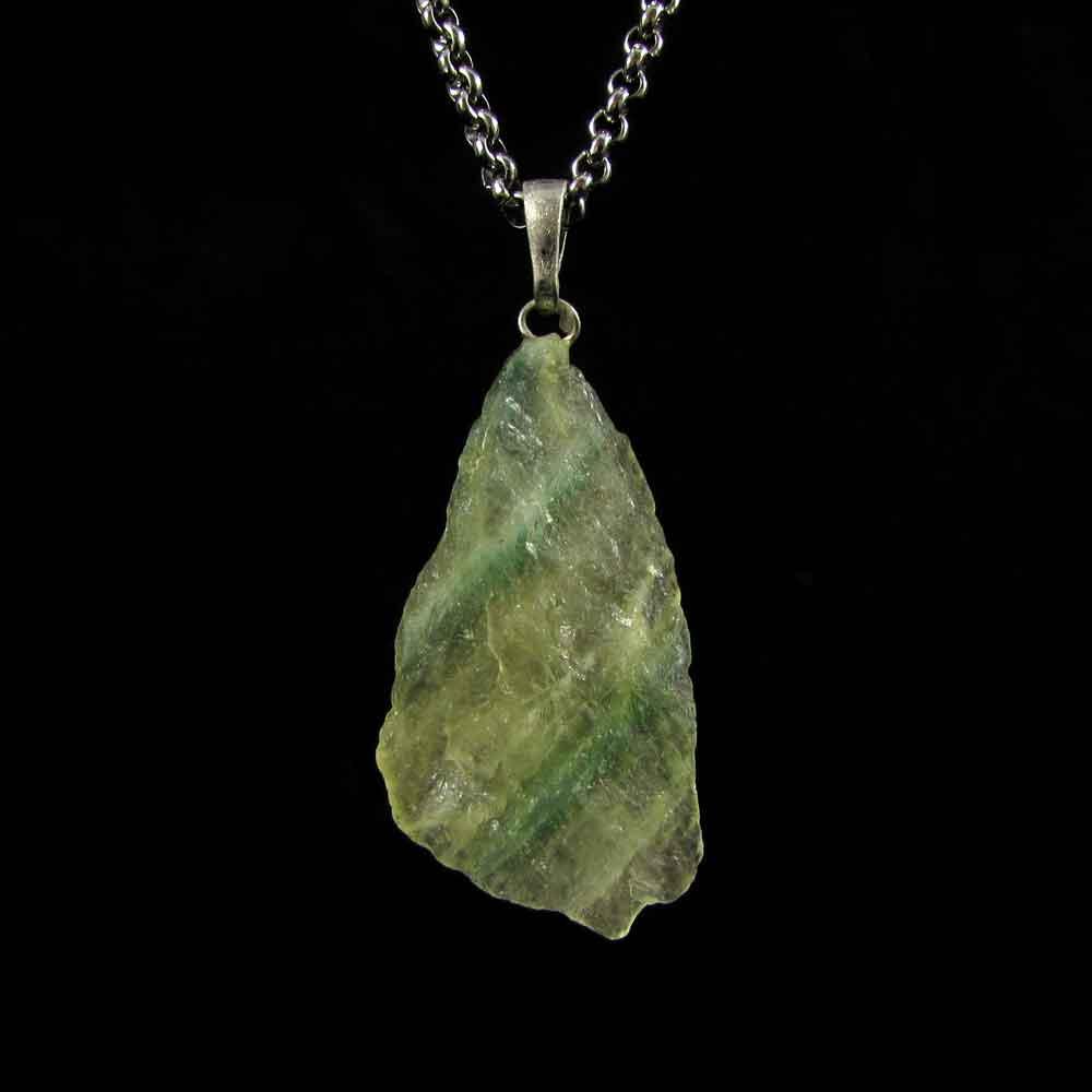 Pingente Fluorita Arco-Íris Pedra Natural (2699)