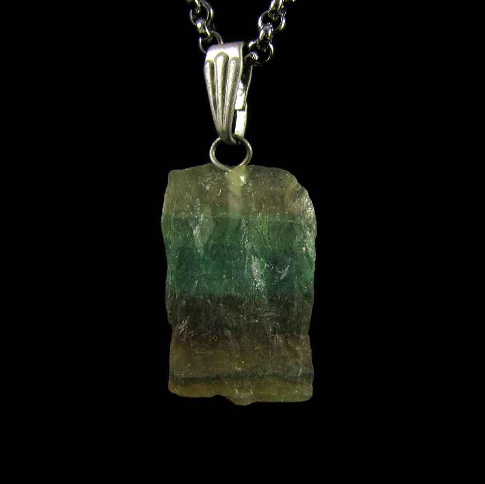 Pingente Fluorita Arco-Íris Pedra Natural (3521)