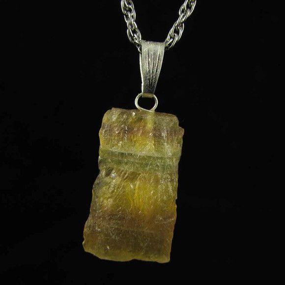 Pingente Fluorita Arco-Íris Pedra Natural (4813)
