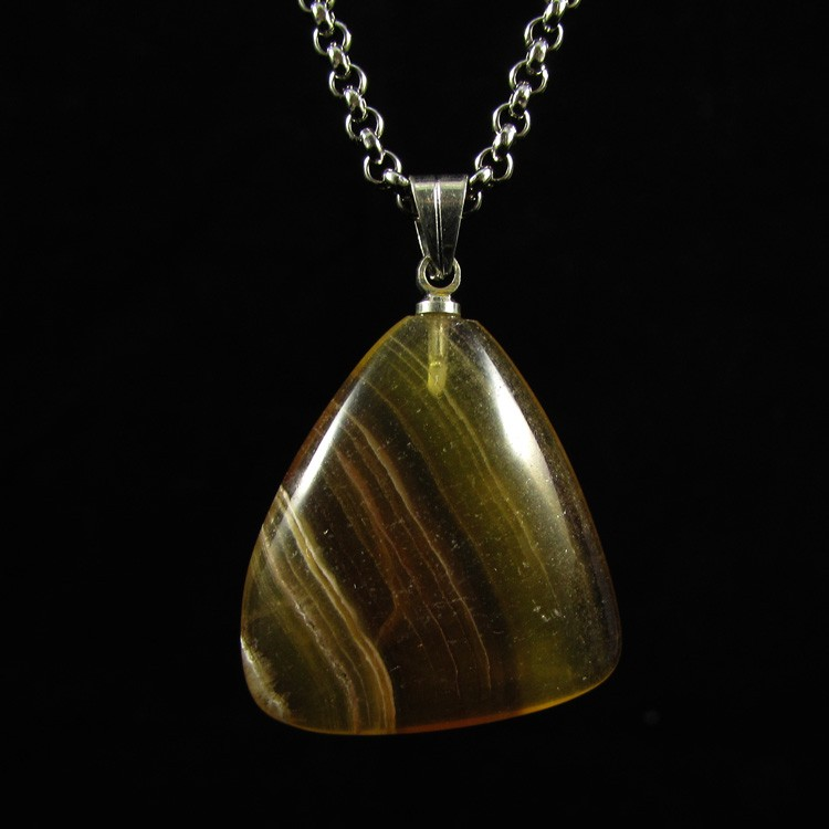 Pingente Fluorita Arco-Íris Pedra Natural - 6027