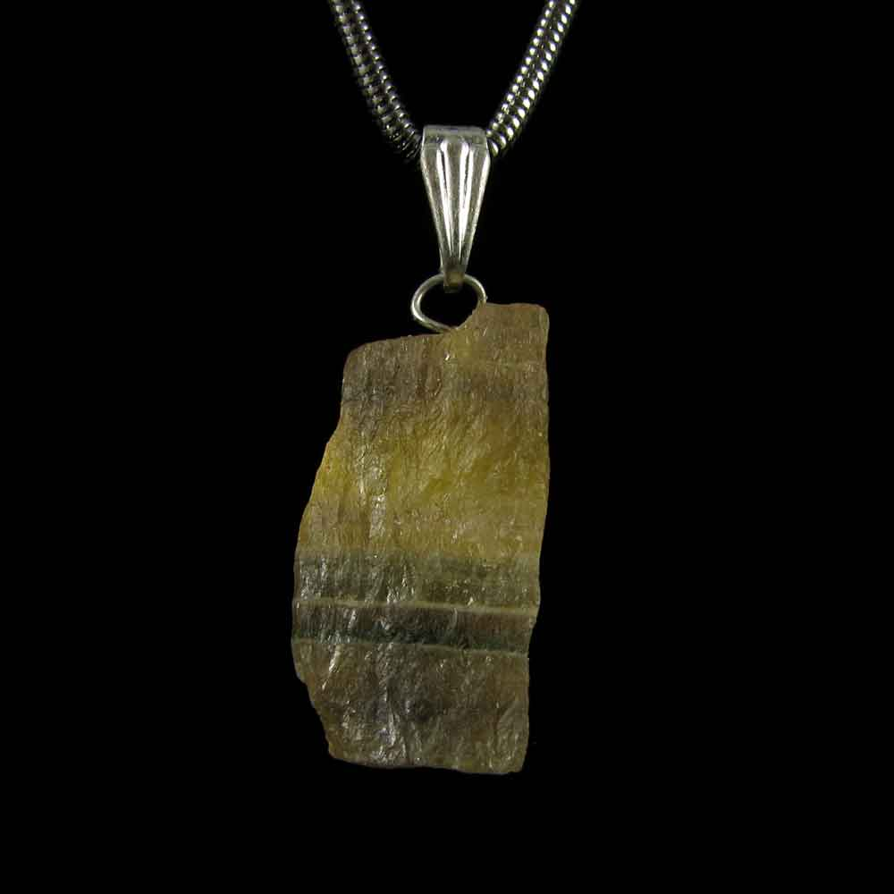 Pingente Fluorita Arco-Íris Pedra Natural Bruta (3275)