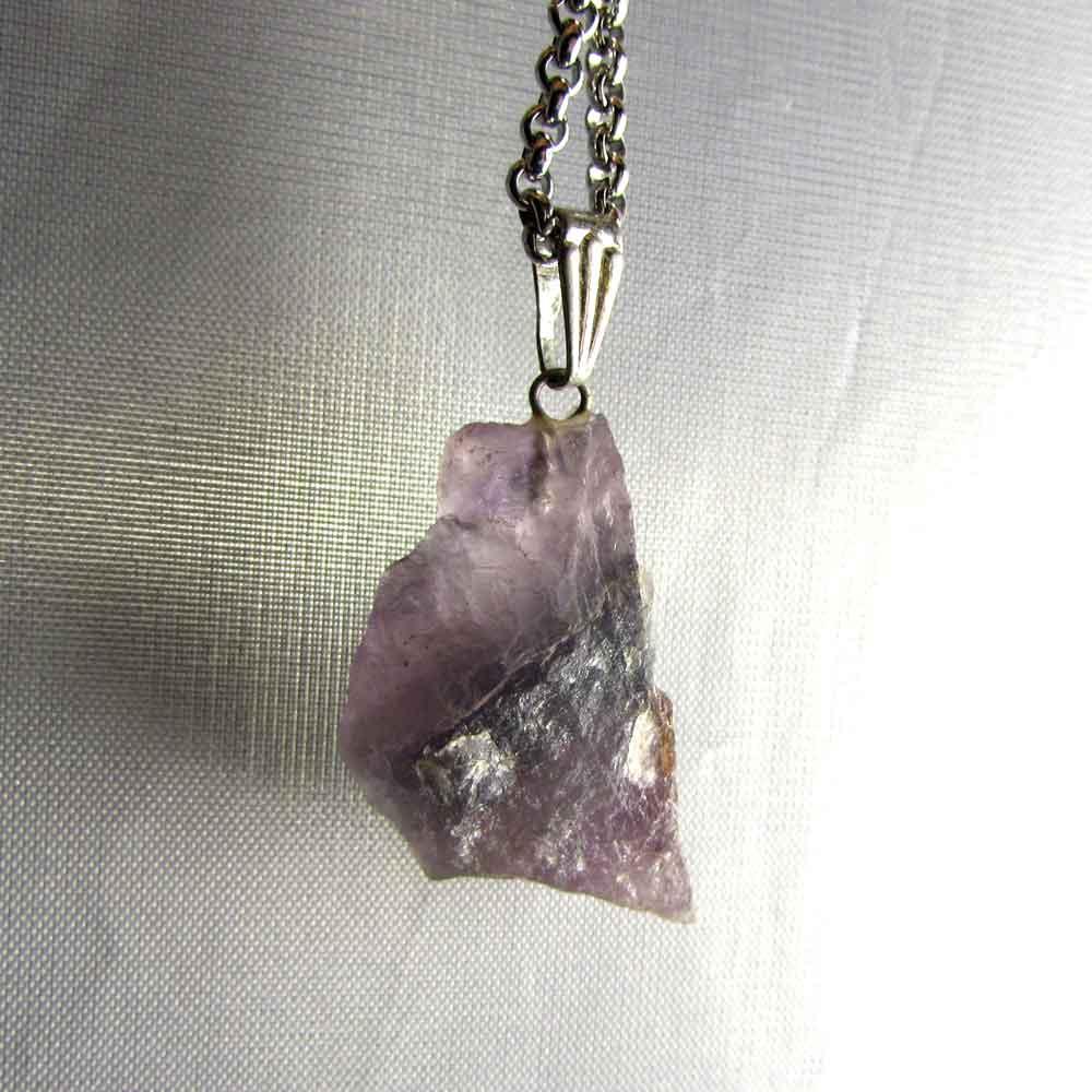 Pingente Fluorita Roxa Pedra Natural (2819)