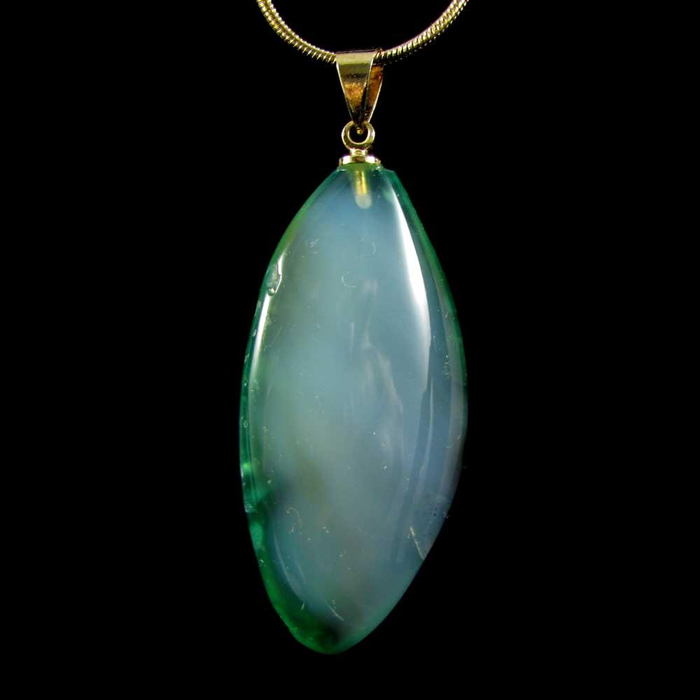 Pingente Fluorita Verde Pedra Natural
