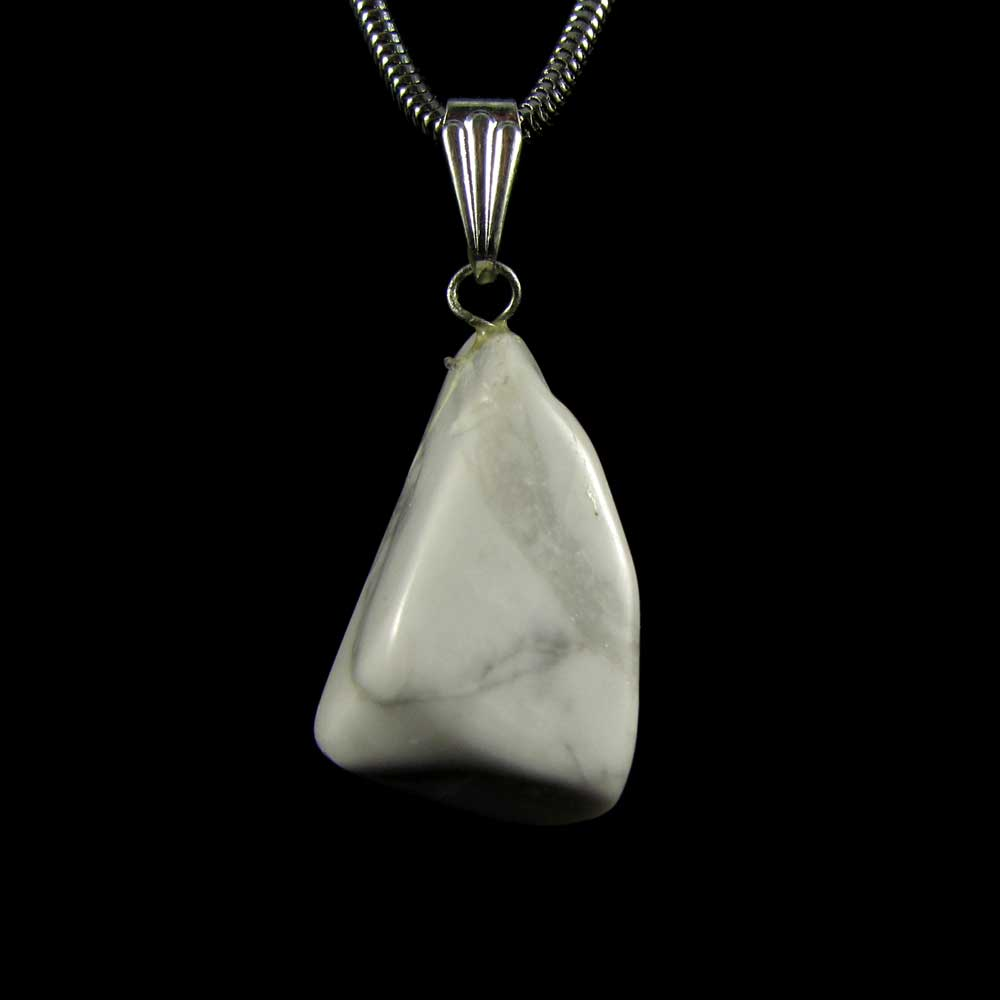 Pingente Howlita Pedra Natural