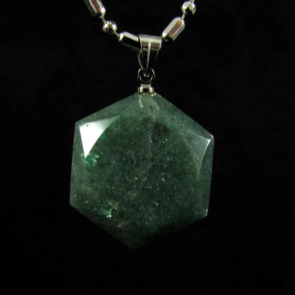 Pingente Quartzo Verde Pedra Natural