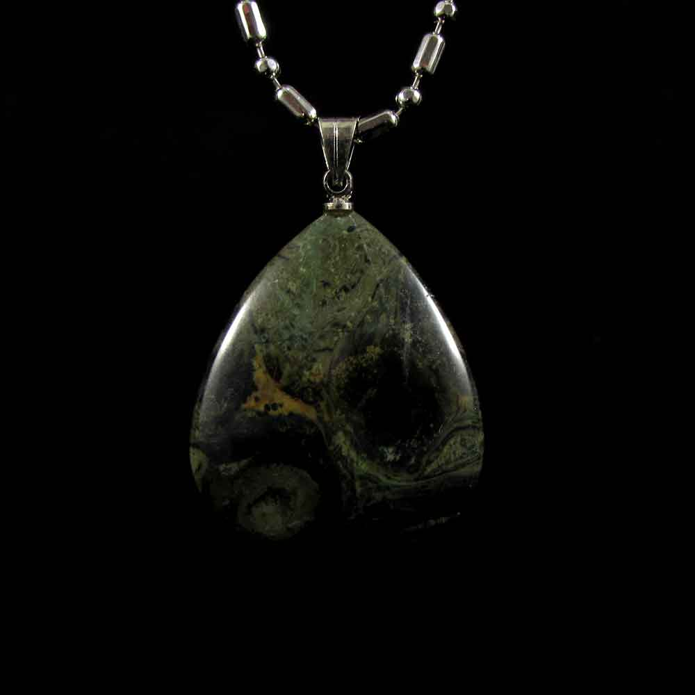 Pingente Jaspe Crocodilo Pedra Natural - 2719
