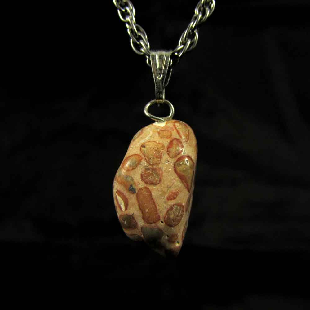 Pingente Jaspe Leopardita Pedra Natural - 5037